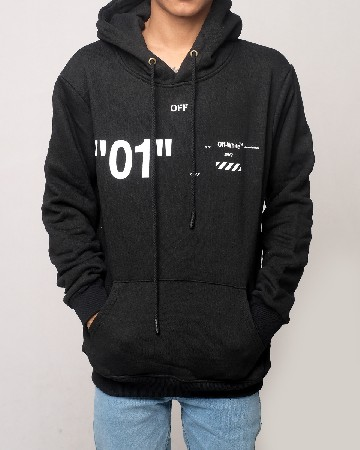 Off-White Caravaggio Virgil Abloh 01 Hoodie - Black White 61599