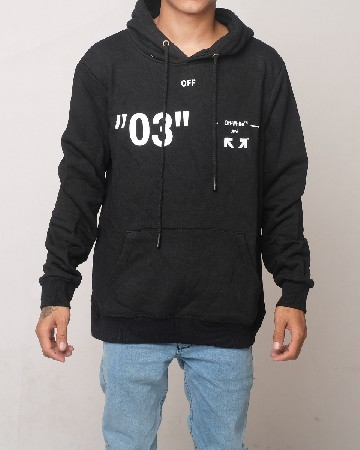 Off-White Caravaggio Virgil Abloh 03 Hoodie - Black White 61601