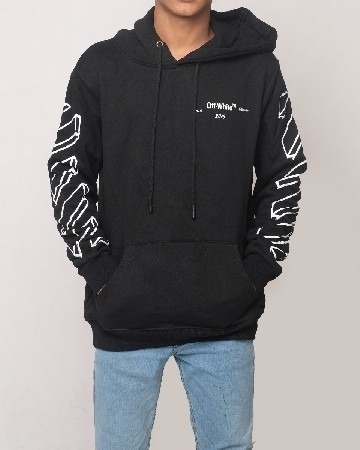 Off-White Pullovers Hoodie - Black - 61602