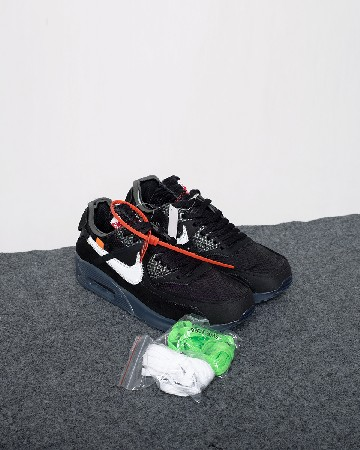 Nike Airmax 90 X OFF-WHITE - Black White - 13300