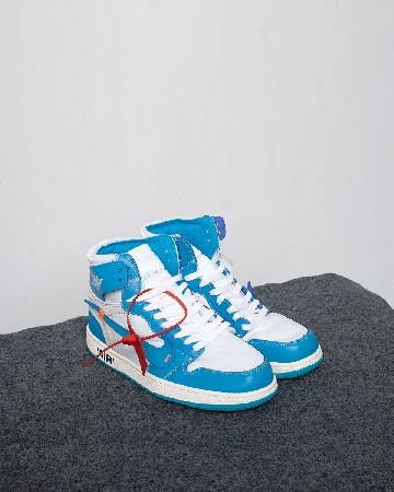 Nike Air Jordan 1 Retro X OFF-WHITE 'UNC' - Dark Powder Blue Cone - 13337
