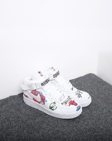 Nike Air Force 1 Mid Supreme NBA - White - 13319