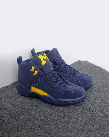 Air Jordan 12 Michigan - biru kuning 13244