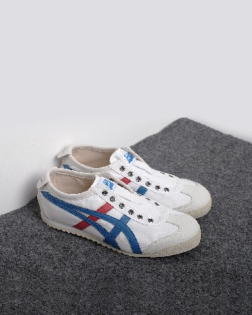 onitsuka tiger 66 slipon - white red blue - 13361