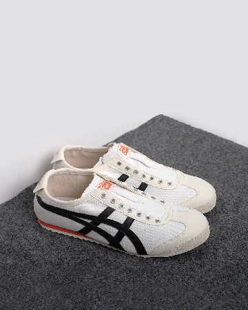 onitsuka tiger 66 slip on - white black orange - 13362