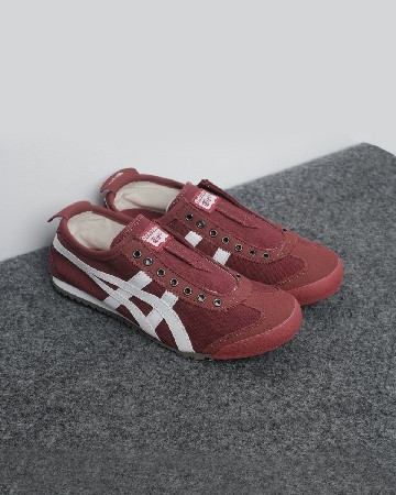 Onitsuka tiger mexico 66 Slip On - Maroon White - 13148