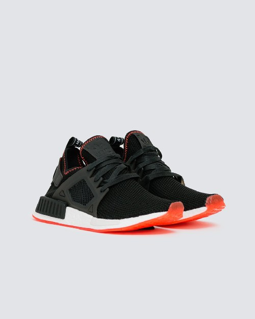 adidas nmd core black solar red