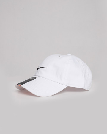 Nike Cotton Caps - White Black - 61720