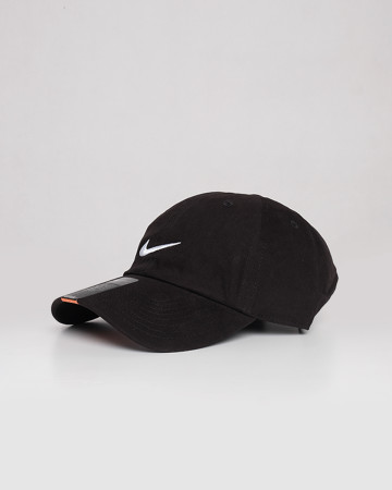 Nike Cotton Caps - Black White - 61721