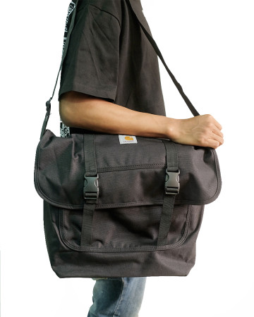 Carhartt Parcel Messenger Cross Body Shoulder Bag - Black - 61750