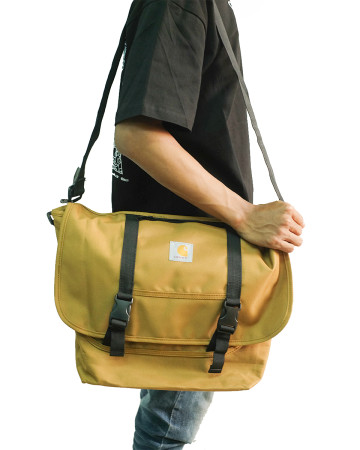 Carhartt Parcel Messenger Cross Body Shoulder Bag - Army - 61752
