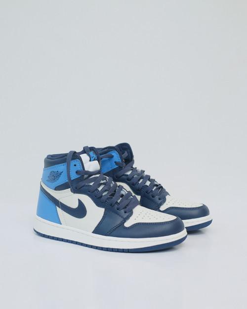 Nike Air Jordan 1 Retro High Unc Leather Summit White Blue Moon Black 13534