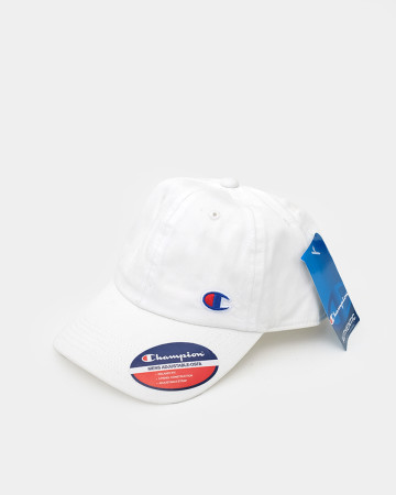 Champions Embroidered Initial Cap - White - 62093