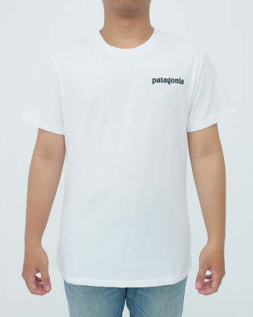 Patagonia Men's Line Logo Ridge Pocket Responsibili Tee - White - 62006