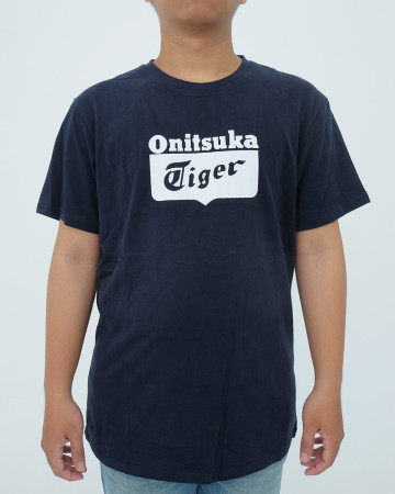 Onitsuka Tiger T shirt - Navy White - 62011