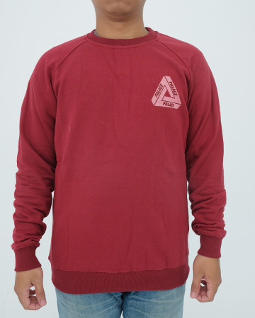 Palace Long Sleeve T-Shirt - Black Maroon - 62082