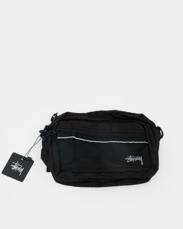Stussy Diamond Ripstop Shoulder Bag -Black 62071