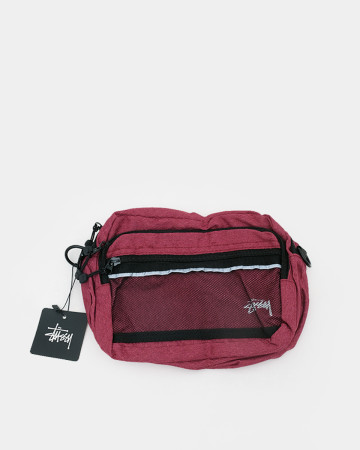 Stussy Diamond Ripstop Shoulder Bag - Red 62072