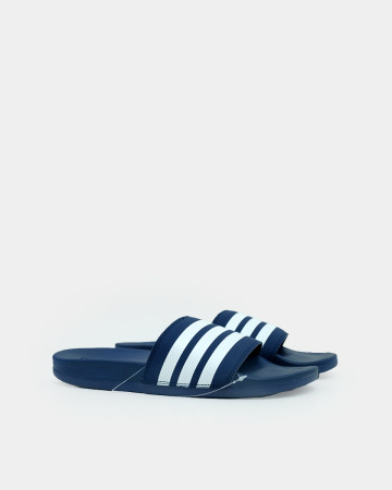 ADILETTE CLOUDFOAM PLUS STRIPES SLIDES - BLUE WHITE 13584