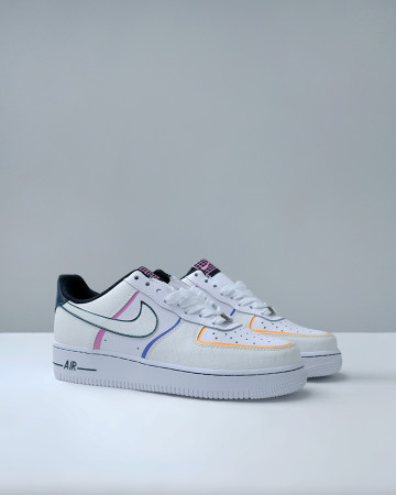 AIR FORCE 1 LOW DAY OF THE DEAD (2019) - BLACK WHITE MULTICOLOR 13618