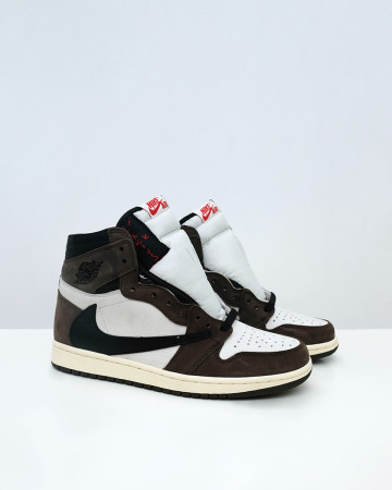 Jordan 1 Retro High Travis Scot - SAIL BLACK DARK MOCHA - 13533