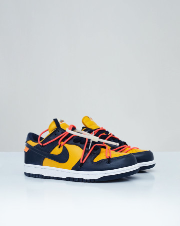 Nike Dunk Low Off White - University Gold Midnight Navy - 13629
