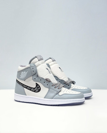 Jordan 1 Retro High Dior - Grey Black Sail - 13627