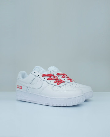 Nike Airforce 1 Low X Supreme - White Red 13645 -
