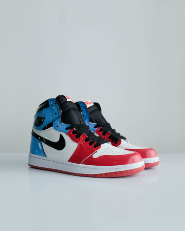 Jordan 1 Retro High Fearless UNC Chicago - Black/black-black - 13665