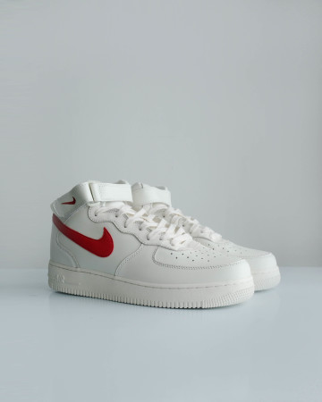 Nike Air Force 1 Mid Sail University Red - 13670