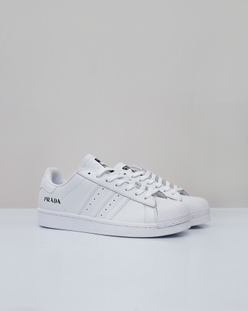 adidas Superstar Prada - White Black White - 13649