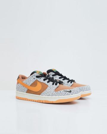 Nike SB Dunk Low Safari - Black Orange Cement Grey Outdoor Green - 13646