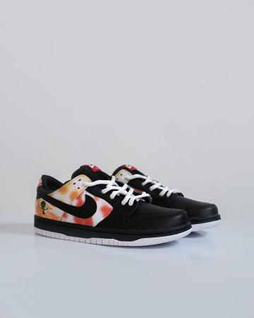 Nike SB Dunk Low Raygun Tie-Dye - Black Orange Flash - 13648