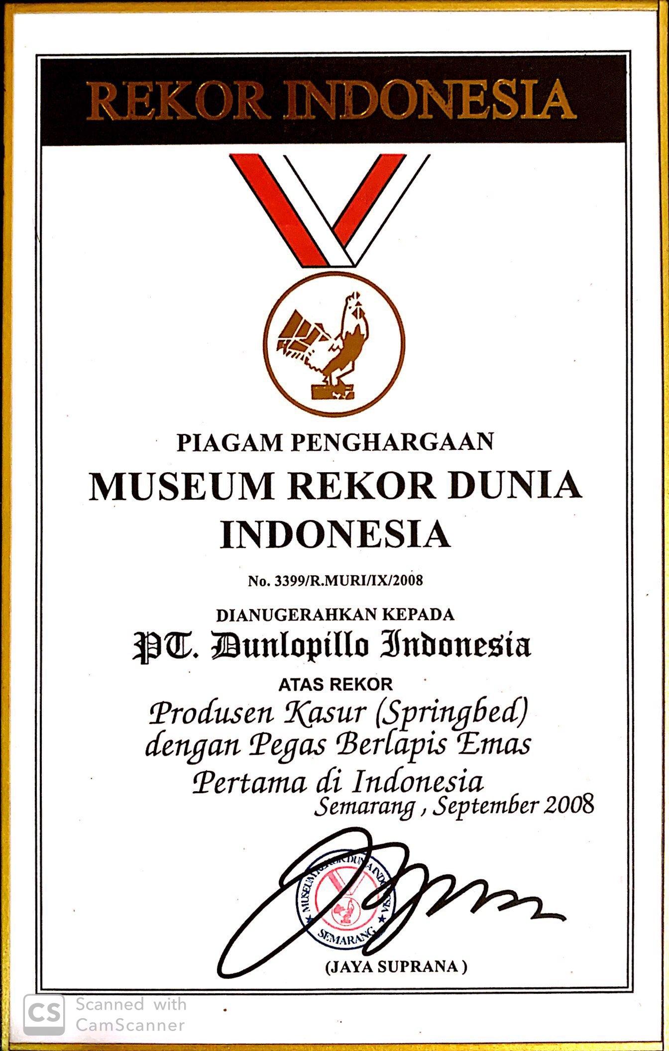 MURI (Produsen Kasur dental Pegas Berlapis Emas Pertama di Indonesia)