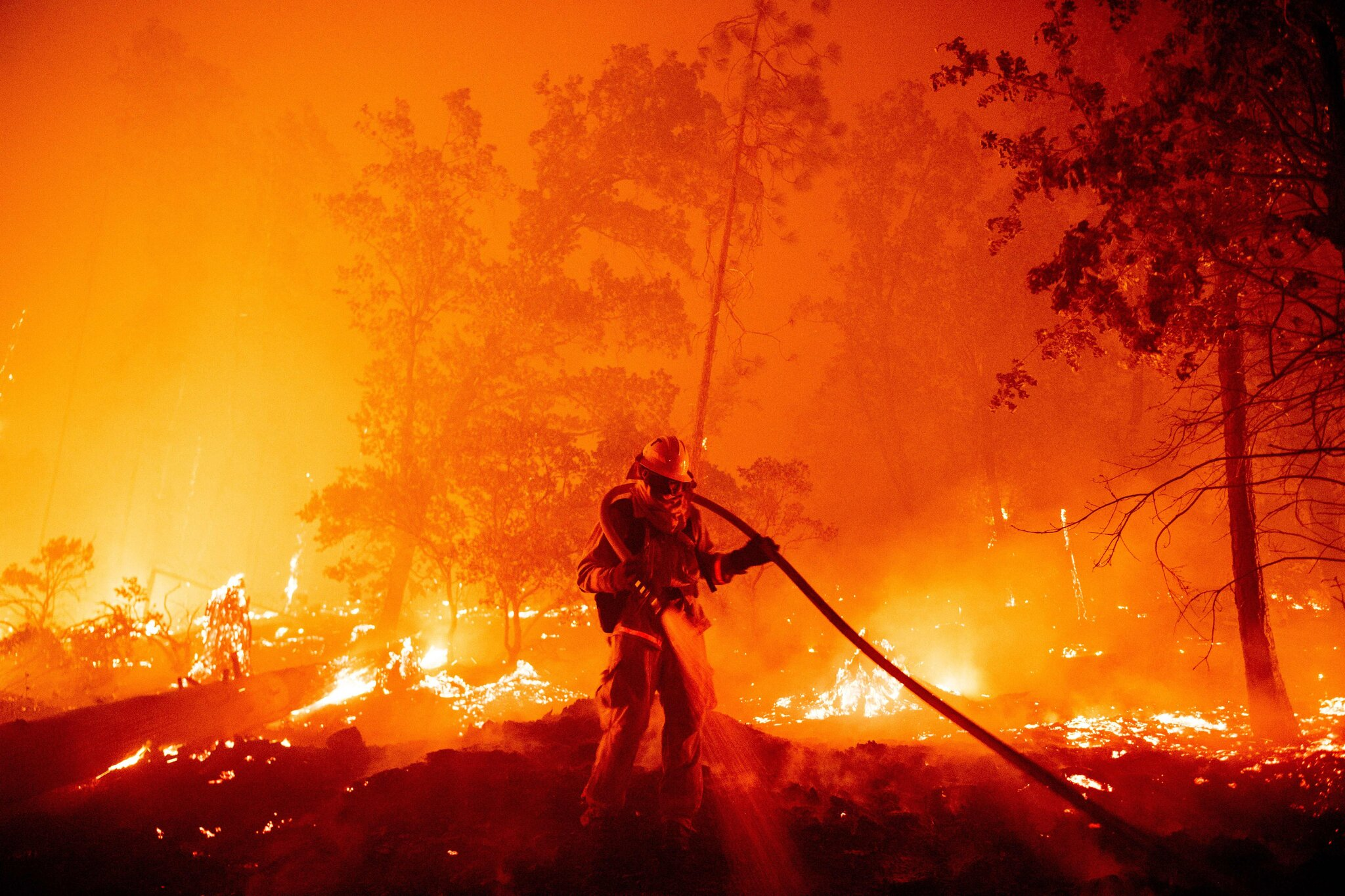 The Creek Fire in Madera County, Calif., in September.
