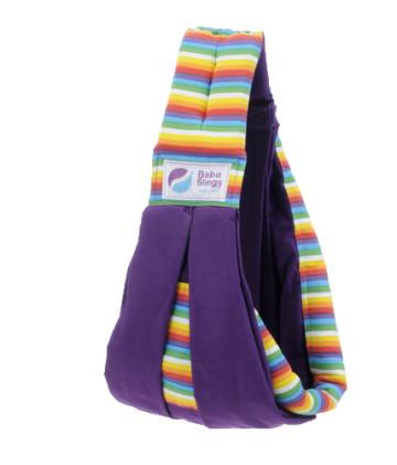 Baba Slings Stripes - Rainbow Purple image