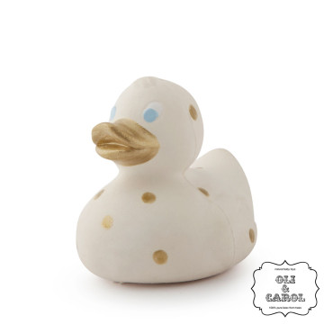 Oli and Carol Ducks Small White Dots Golden image