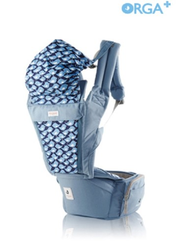 POGNAE ORGA PLUS BABY AND HIPSEAT CARRIER - Blueberry image