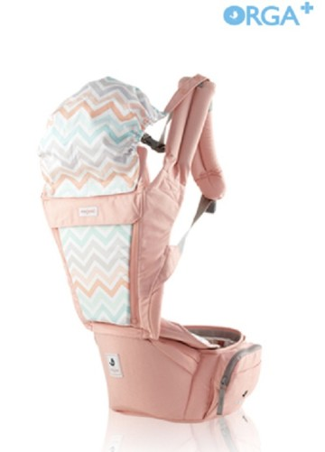 POGNAE ORGA PLUS BABY AND HIPSEAT CARRIER - Peach image