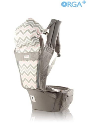POGNAE ORGA PLUS BABY AND HIPSEAT CARRIER - Mushroom image