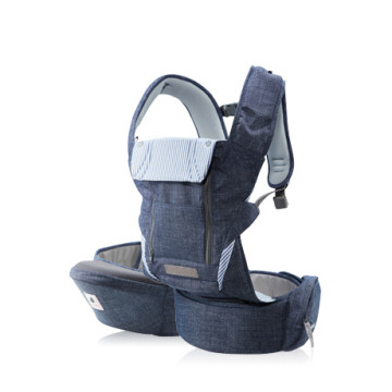 POGNAE NO. 5 PLUS Baby And Hipseat Carrier | Denim Blue image