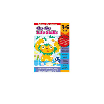 Gakken Go Go Life Skills 3-5 Years Book | 24-47 Months image
