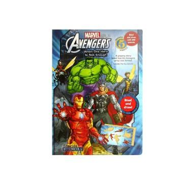 N-Marvel Avengers When One Hero Stencils | 24-47 Months image