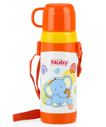 Nuby Stainless Steel Thermos with Strap 360ml - Elephant image