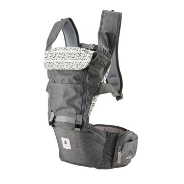 Pognae All New No.5 Waterproof Outdoor Hipseat Carrier Grey Gendongan Bayi image