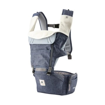 Pognae All New No.5 Waterproof Outdoor Hipseat Carrier Denim Blue Gendongan Bayi image
