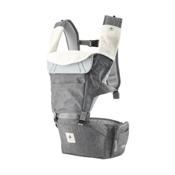 Pognae All New No.5 Waterproof Outdoor Hipseat Carrier Denim Grey Gendongan Bayi image