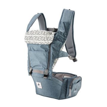 Pognae All New No.5 Waterproof Outdoor Hipseat Carrier Blue Gendongan Bayi image