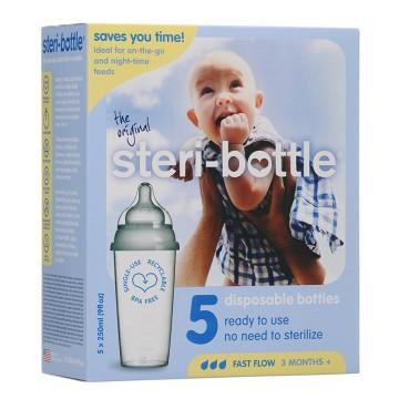 Steri-bottle Disposable Milk Bottle - 5pcs 250ml Botol Susu Sekali Pakai image