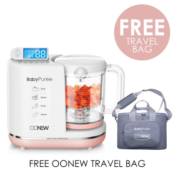 OONEW Baby Puree 6 in 1 Baby Food Processor | Pink Salmon image